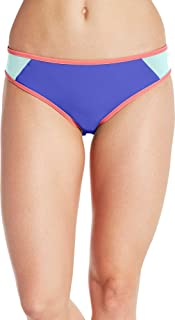 CALIA by Carrie Underwood Womens Color Block Bikini Bottoms, (Ice Green, XL)