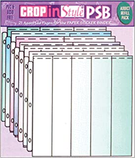 CROP IN STYLE PSB Paper and Sticker 3-Ring Binder Refill Assortment