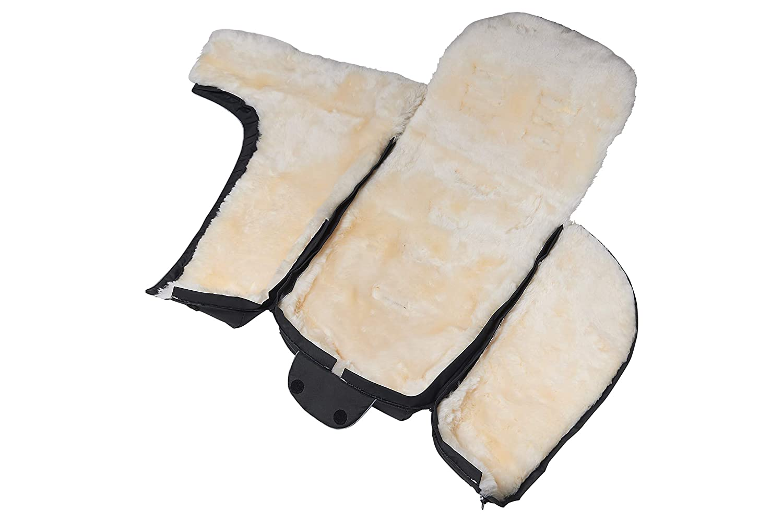 Fellhof 108305 Lammfell Fußsack Cortina Oeko Tex Standard 100 Zertifiziert 45x97 Cm Wind Und Wasserdicht Waschbar Bis 30 C Öffnung Am Fußende Beige Baby