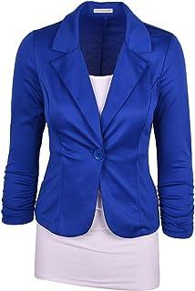 Elonglin Women's Lapel Blazer Casual Open Front Work Office Jacket Suit Long Sleeve Blazer Jacket