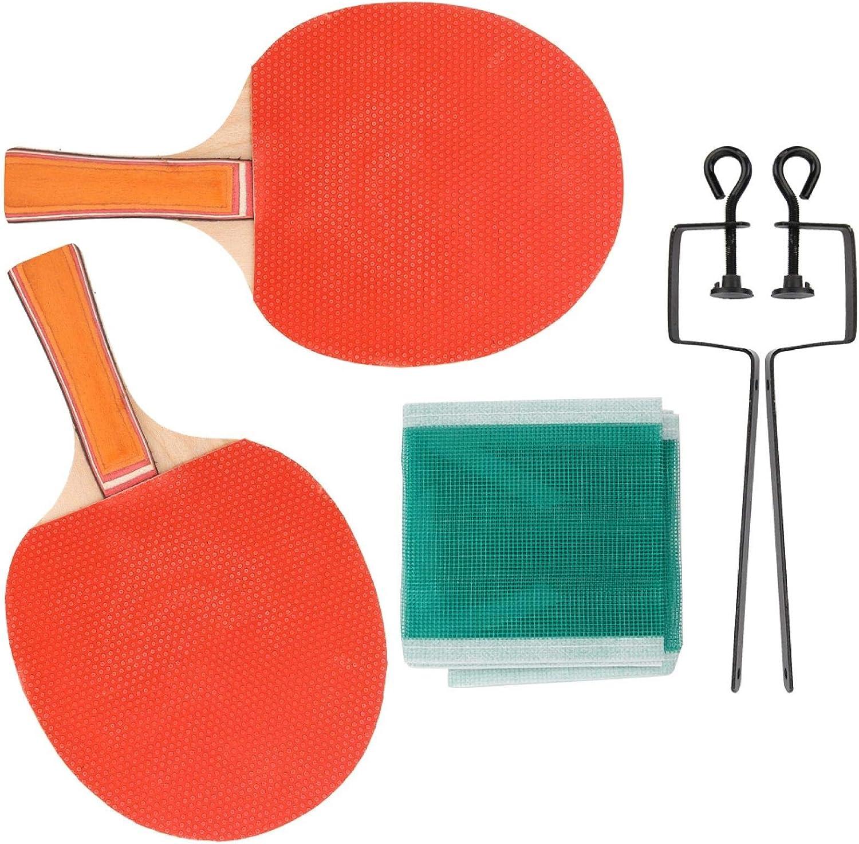 FOLOSAFENAR Robusto Tablero de Base de Madera Pura Paddle Bat Ping Pong Set Equipo Deportivo para Deportes Fitness para Entrenamiento de competición