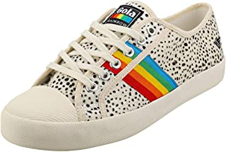 Gola Coaster Rainbow Cheetah Womens Fashion Trainers