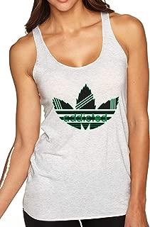 Addicted Stripes Pot 4/20 Logo Parody | Womens Weed Premium Tri-Blend Racerback Tank Top
