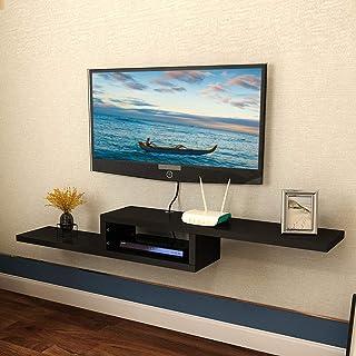 Meuble de Télévision Mural Console Multimédia Lecteur DVD CD Poste de Télévision Routeur Routeur de Câble Boîte de Jeux po...