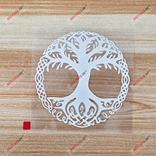 3S MOTORLINE White 5'' Yggdrasil Tree of Life Decal Sticker Viking Odin Norse Norway Norwegian Roundel