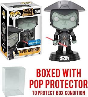 Funko Pop! Star Wars Rebels: Fifth Brother #168 (Walmart Exclusive) Vinyl Figure (Bundled with Pop BOX PROTECTOR CASE)