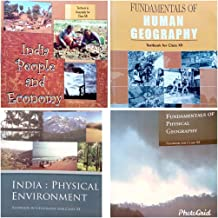 Geography NCERT textbooks class 11 and 12 combo of 4 books with a FREE 3 colour Book mark