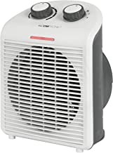 Clatronic 263951 HL 3761 - Calefactor portátil y compacto, 2 niveles de calor (1000/2000 W), nivel de frío (ventilador), asa estable, color blanco