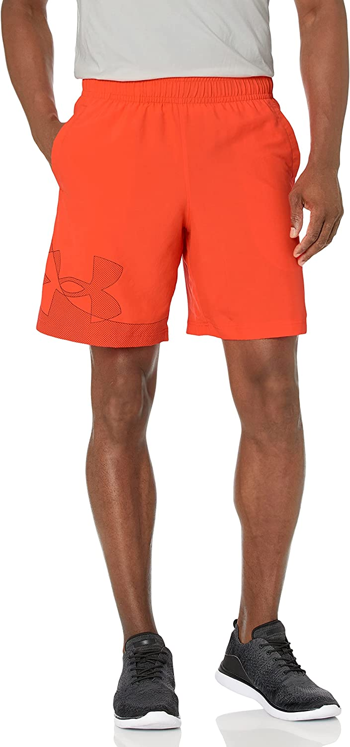 Discount mail order Under Armour Men's Woven Graphic Soldering Shorts Phoenix Fire 296 Rad
