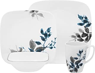 Corelle Boutique Square Kyoto Night 16-Piece Dinnerware Set, Service for 4