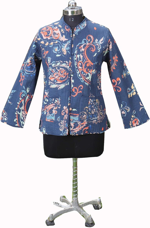 Quilted Jacket For Women, Cotton Kantha Jacket, Reversible Kantha Jackets,