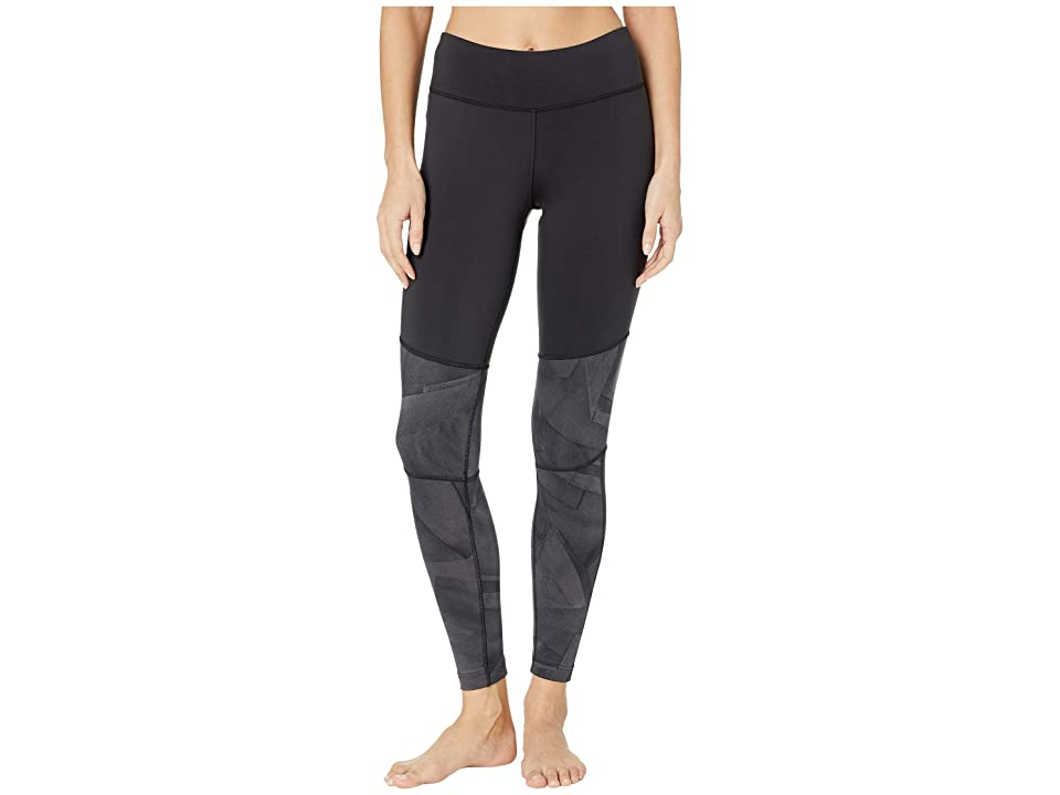 Reebok Workout Ready Color Blocked Tights (Black) Women