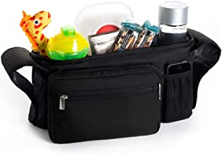 Portable Pram Organiser, Stroller Bag, Pushchair Organizer - Cup Holders, Stores Bottles, Keys, Diapers, Cell Phone, Wallet - Multi Function Organizer Bag for Roan Kortina Classic 2-in-1