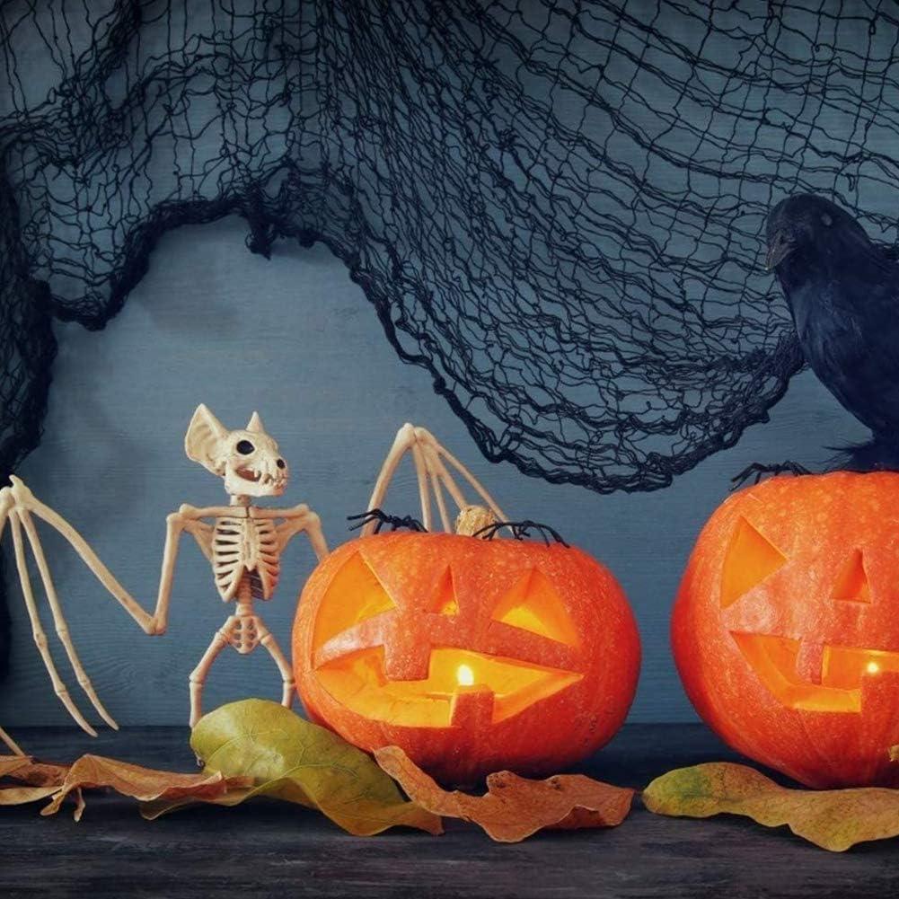 LinTimes Halloween Toile Daraign/ée 300g 60 s Araign/ées) D/écorations De Halloween avec 60 Fausses Araign/ées Pour Des D/écorations Int/érieures et Ext/érieures(300g
