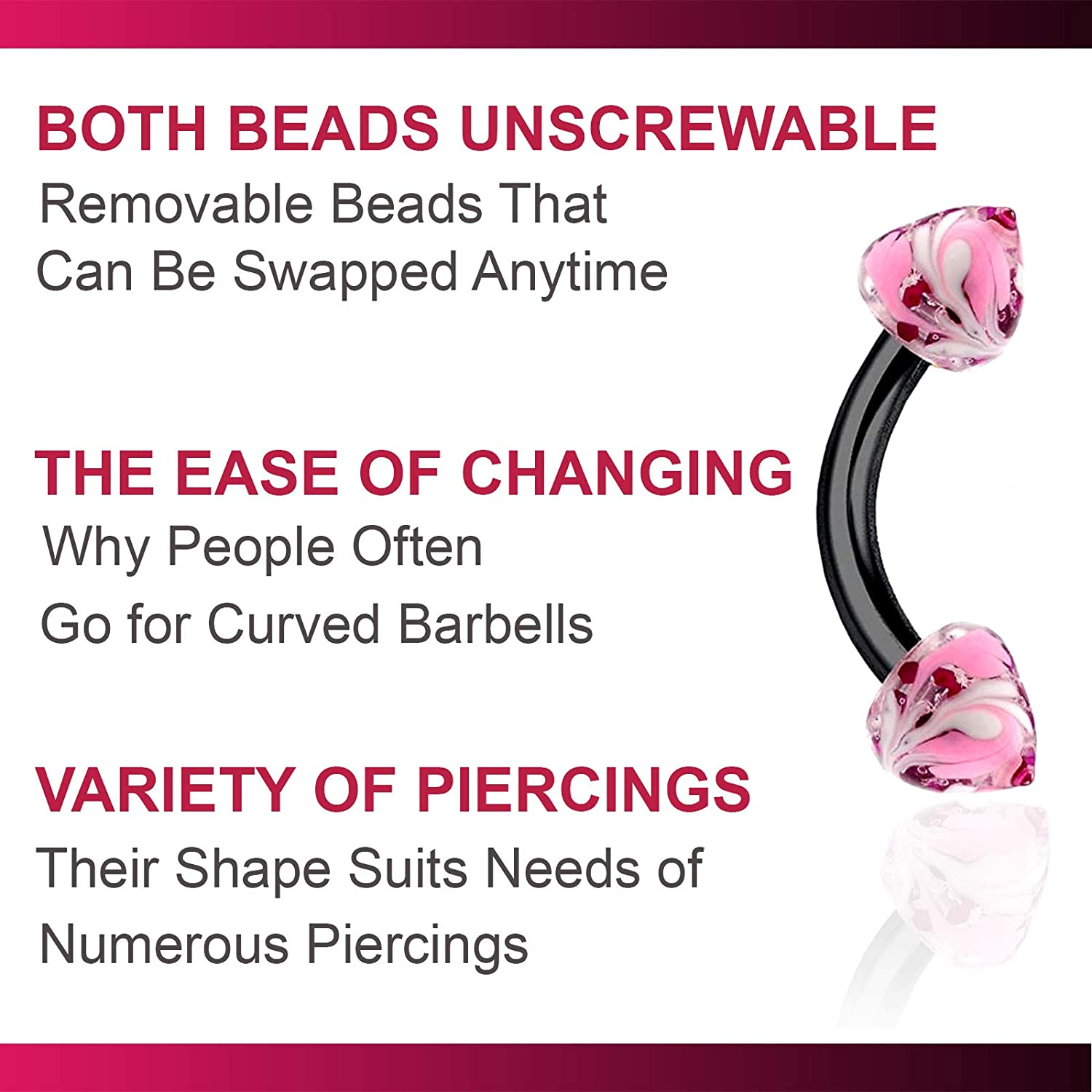 bodyjewellery 2Pcs 16g Curved Barbell Septum Cartilage Lobe Eyebrow Tragus Rook Helix Black Anodized Steel Hand Painted 03 Spike - Pick Size
