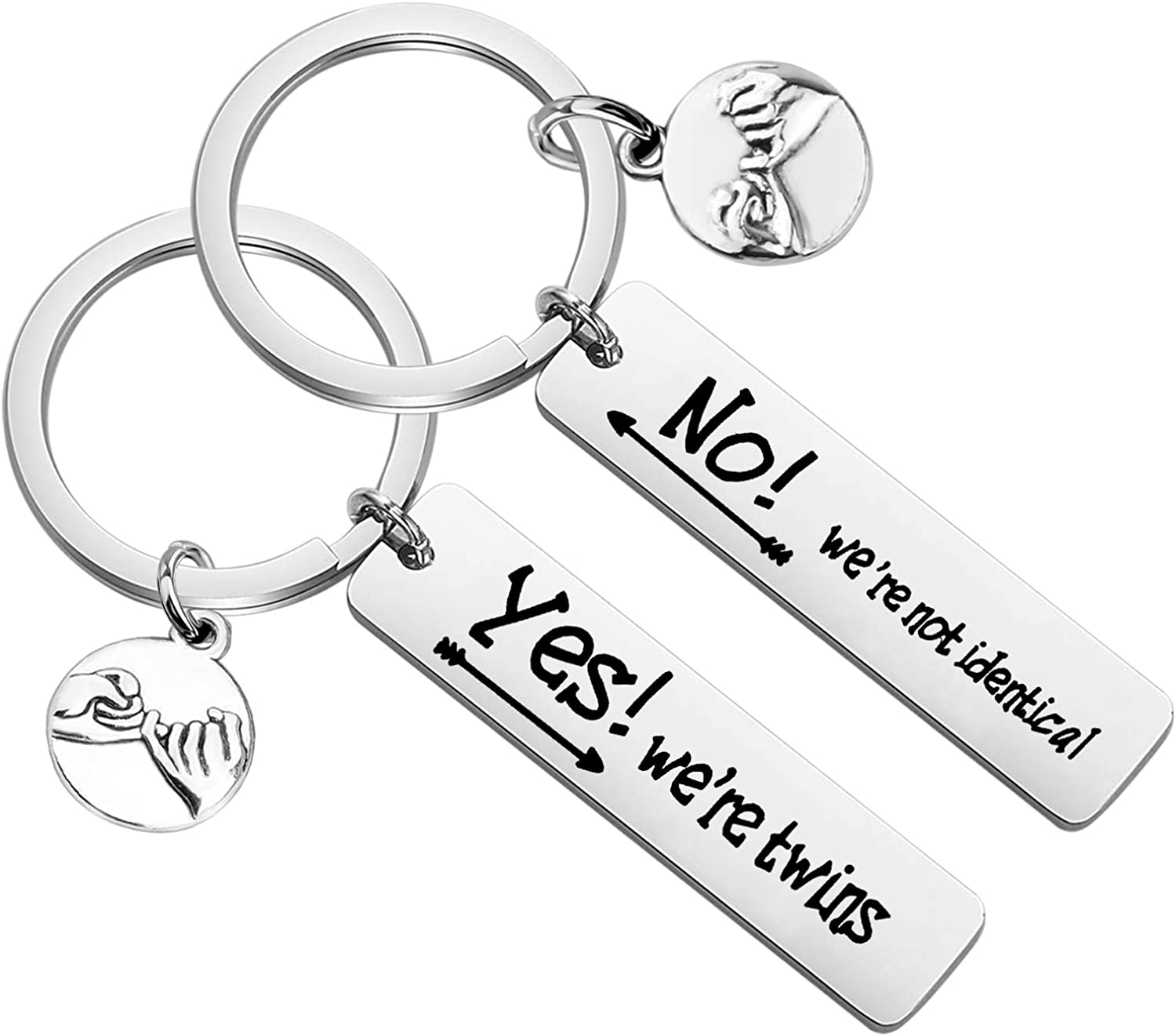 KEYCHIN New mail order Twin Excellent Matching Keychain Sister Jewelry Brother