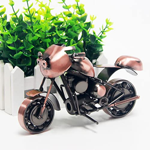 Signstek Vintage Handcrafted Iron Harley Motorcycle Model As Collectible Art Sculpture For Lovers Bronze