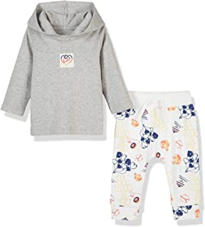 Silly Apples Baby Toddler Boys Spring Easter Outfit 2-Piece Hoodie T-Shirt and Pant Set