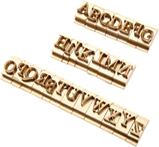 26pcs/Set Brass Alphabet Letter Font Stamp Mold Leather Craft Seal Tool A-Z Captal Letters