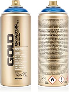 Montana Cans MXG-T5080 Montana Gold 400 ml Color, Transparent Ultramarine Spray Paint,