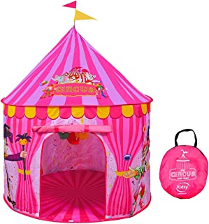 Play Tent for Kids - Vibrant Pink Toy Circus Play Tent in Sturdy Carrying Bag - Durable, Lightweight & Portable Kids Tent for Indoor & Outdoor Use, Easy Setup & Storage, Great Gifting Idea