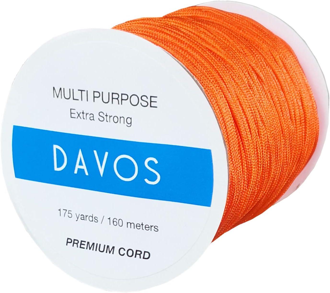 Pumpkin Orange Nylon Braided Cord Thread 1.5mm x 175 Yards for Jewelry Making String Beading Shamballa Necklaces Bracelets Lift Shade Cord Window Blind Arts Crafts DIY Extra Strong