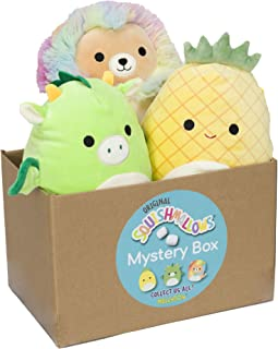"""Squishmallow Official Kellytoy Plush 8"""" Plush Mystery Box Three Pack - Styles Will Vary in Surprise 8"""" Plush Box That Incl..."""