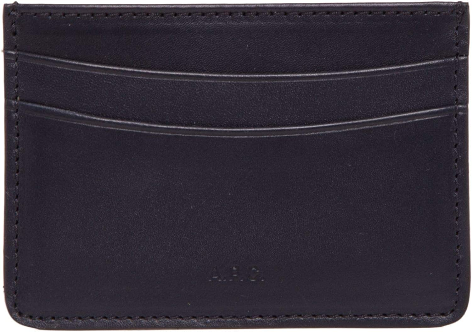 A.P.C. Women's PXAQGH63028DARKNAVY bluee Leather Card Holder