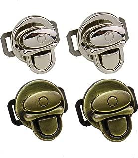 Monrocco 4 pcs Metal Duck Tongue Twist Lock Clasp Purse Twist Lock for DIY Handbag Purse Hardware Closure