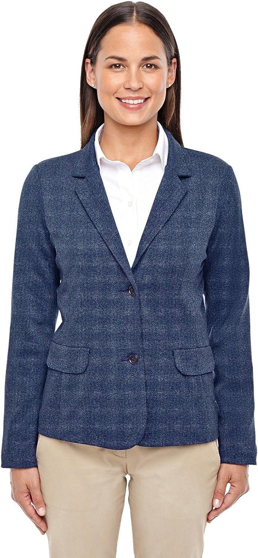Ladies' Fairfield Herringbone Soft Blazer-DK Grey Heather