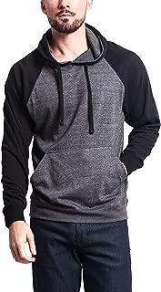 Men's Cross-Dyed Heather Jersey Lightweight Pullover Hoodie Sweatshirt