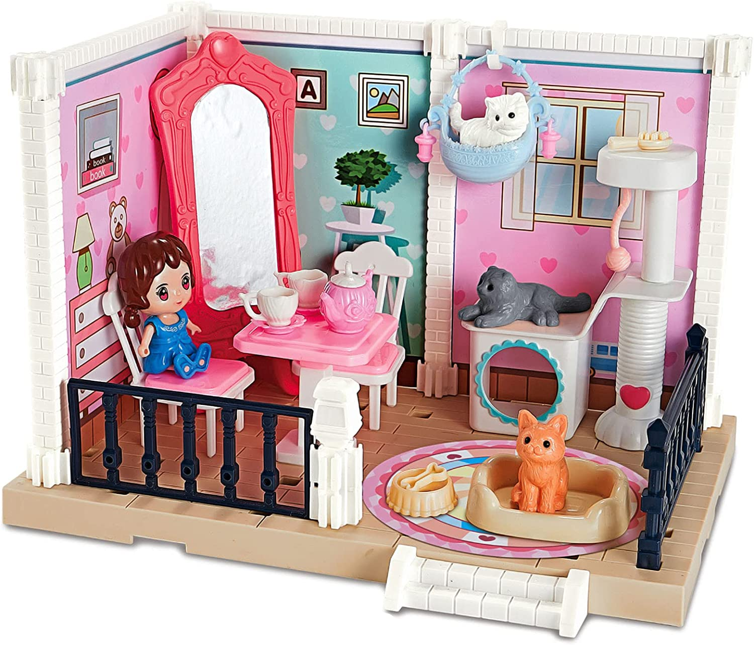 WSYKC Doll House Kit DIY Dollhouse Liv Miniature All items free shipping Toy Outlet sale feature