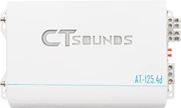 CT Sounds 4 Channel Car Audio Amplifier, 800W RMS, Bridgeable outputs, Class D, Mosfet Power Supply, DC 12v Operating Voltage, Nickel Plated RCA Inputs – AT125 4D