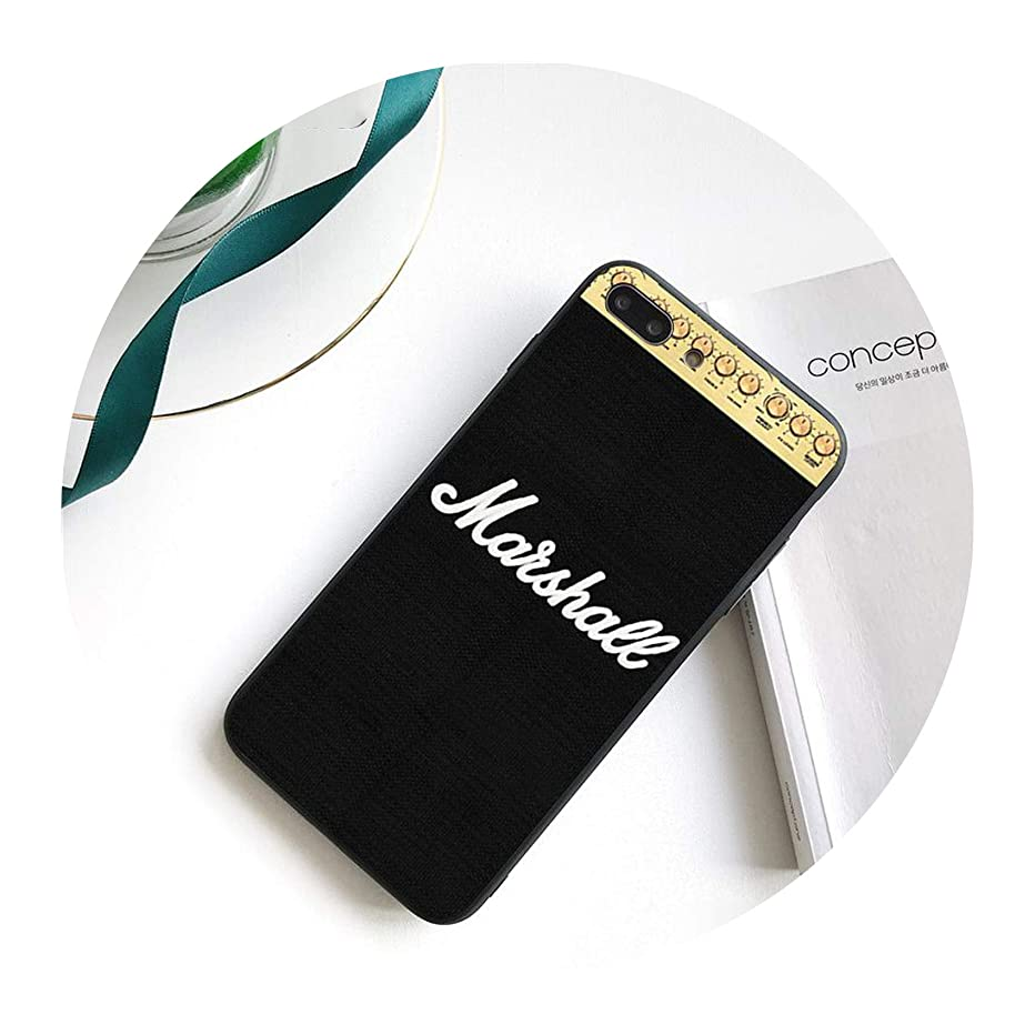 Guitar amp Marshall Black TPU Soft Phone Case Cover for iPhone 8 7 6 6S Plus 5 5S SE XR X XS MAX Coque Shell,A14,for iPhone Xs MAX