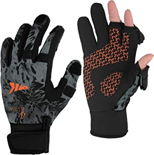 KastKing Mountain Mist Fishing Gloves – Cold Winter Weather Fishing Gloves – Fishing Gloves for Men and Women – Ideal as I...