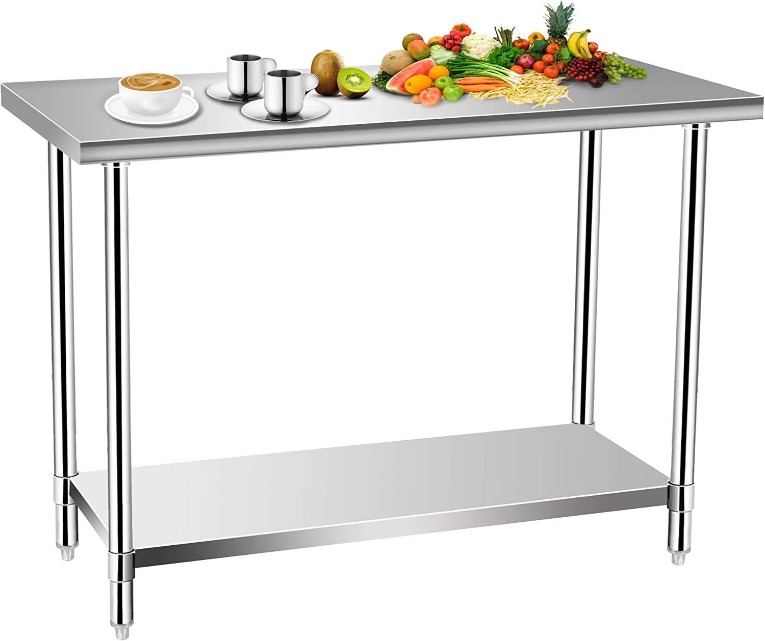 Commercial Kitchen Prep Work Table Sale special price Food Stainless Tulsa Mall KITMA Steel