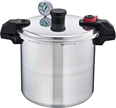 T-fal P31052 Polished Pressure Canner and Cooker with 2 Racks and 3-PSI Settings Cookware, 22-Quart, Silver
