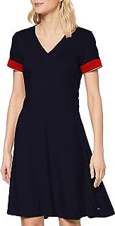 Tommy Hilfiger Fit&Flare Punto Dress SS Robe Femme