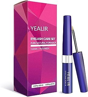 YEALIR Eyelash Growth Serum, Eyebrow Growth Enhancer,Lash Nourish Growth Serum 6ML & Eyelash Cleanser 60ML Kit, Lash Serum...