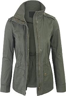 Womens Military Anorak Safari Jacket Pockets