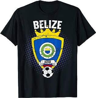 Belize Soccer T-Shirt 2018 Belizean Flag National Team Cup