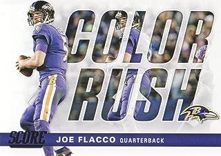 2017 Score Football Color Rush #10 Joe Flacco Baltimore Ravens