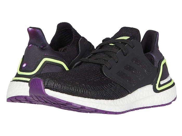 adidas Kids  UltraBOOST 20 (Big Kid) (Black/Glory Purple/White) Kids Shoes