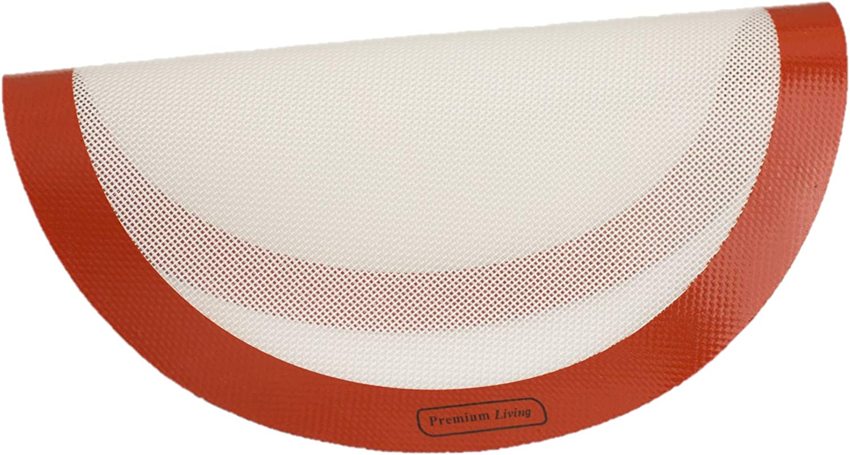 Premium Popular popular Living Pizza Baking Silicone Mat Elegant 1 Red 12