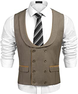 Men's Business Suit Vest Slim Fit Skinny Double Breasted Wedding Waistcoat