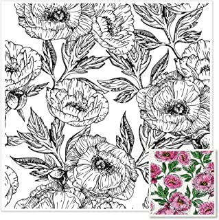 Flower Leaves Background Clear Stamps for Card Making Plant Clear Rubber Scrapbooking Stamps with Sentiment for Card Makin...