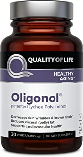 Quality of Life - Premium Anti Aging Supplement- Promotes Cardiovascular Health, Circulation & Youth - Oligonol - Includes...