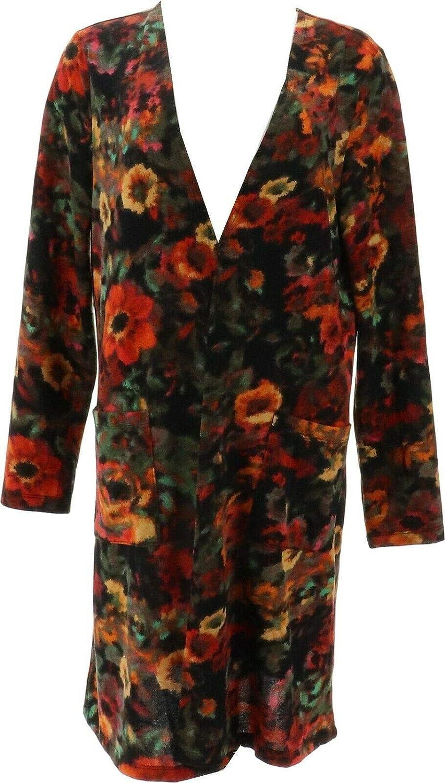 Nina Leonard Dolce Knit Duster Cardigan Pockets 703-879