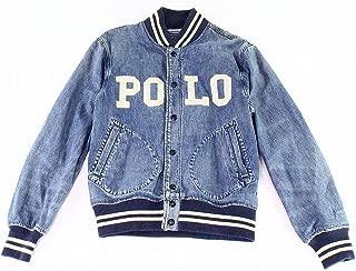 Polo Ralph Lauren Varsity Style Snap Front Denim Jacket