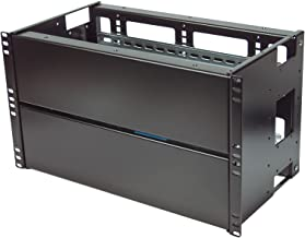 IAenclosures 6U Rackmount multipurpose heavy duty 14 Gauge DUAL Solid and Din Rail adjustable PANELS for 19-inch 2-post or 4-post server rack (DUAL Solid and Din Rail Panels)